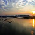 備前の夕陽