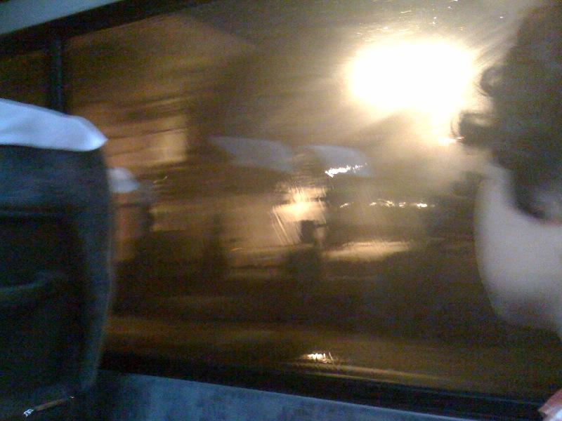 名鉄の観光バスに乗ってます